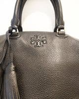 Tory Burch Women's Black Textured Leather Double Handle Bag #57/5734/A